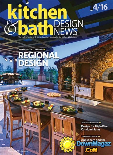 kitchen design magazines free kitchen bath design news april 2016 187 pdf magazines magazines commumity