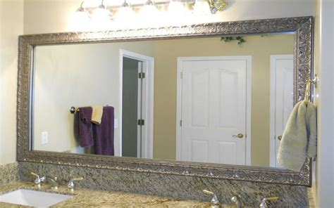 how to hang a large bathroom mirror 94 bathroom mirror hangers image of framed bathroom