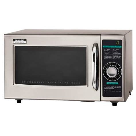 Microwave Sharp R222y W sharp r 21lcf 1000 watt commercial microwave oven etundra