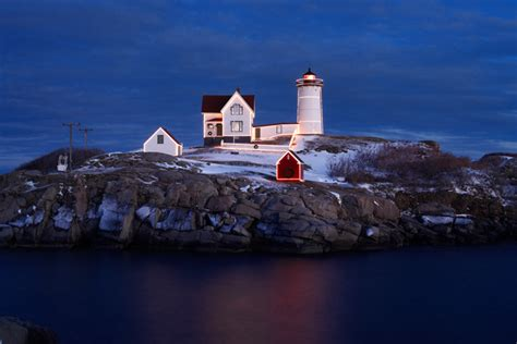 nubble at christmas york maine robert m ring photography