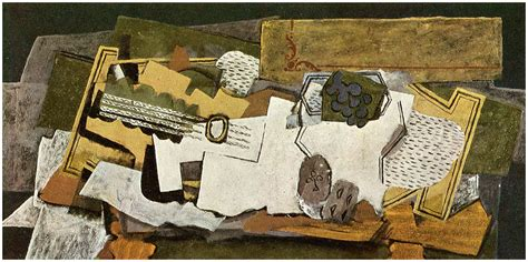 braque collage still with a guitar 1919 georges braque wikiart org