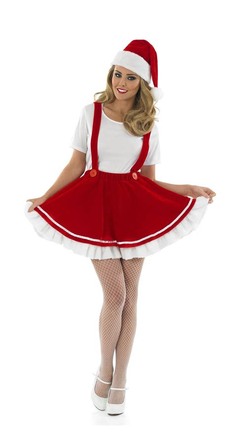Christmas gnome costume includes dress with braces attached top