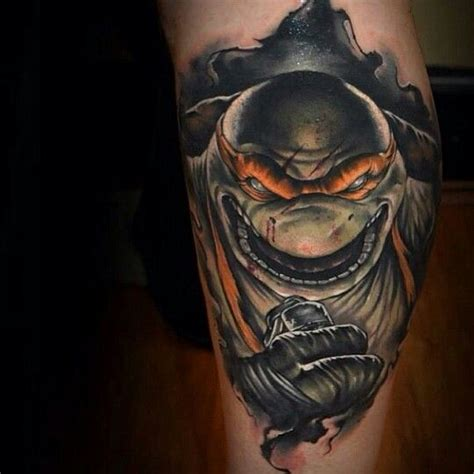 tmnt tattoo mutant turtles pretty cool