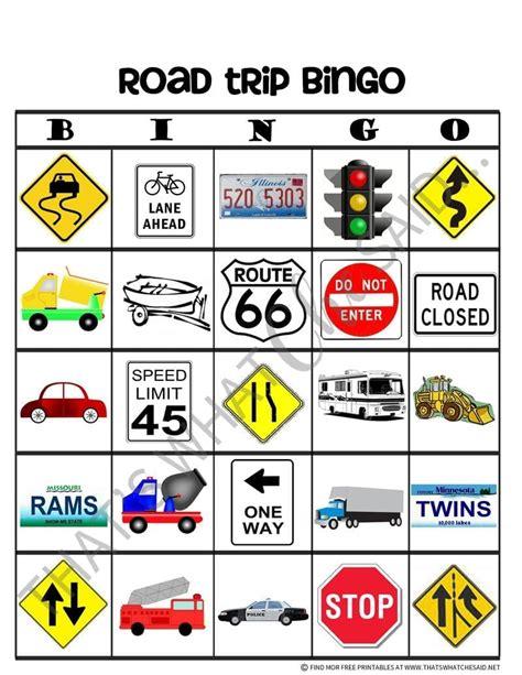 Road Trip Bingo Printable