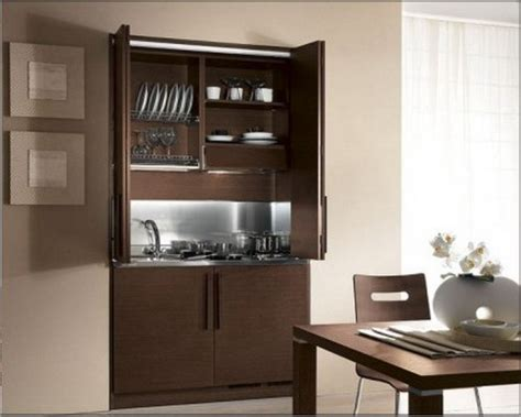 Mini Kitchen Armoire by Ideas For Small Kitchen For The Small Modern Apartments