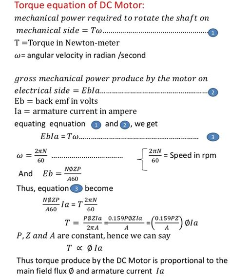 voltage equation of dc motor electric dc motors principle of operation types