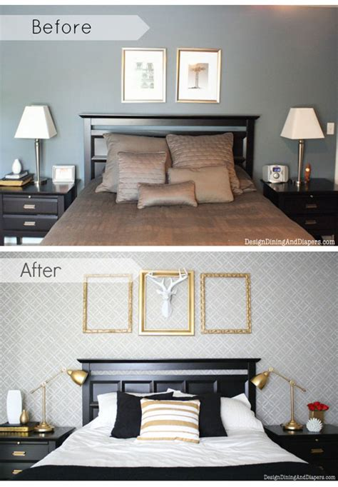 decorating a bedroom on a budget with diy stencils