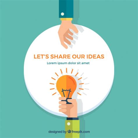 ideas image let s share our ideas vector free download
