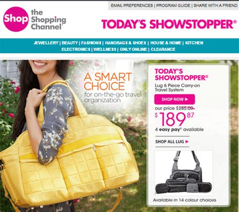 shopping channel canada contest win a trip to nassau the shopping channel today offer lug 6 piece carry on