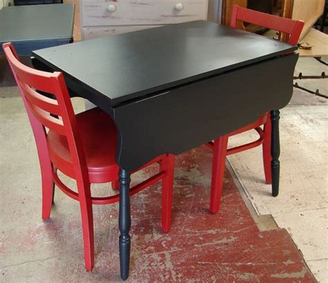 Small Drop Leaf Kitchen Table Small Trestle Black Painted Drop Leaf Kitchen Table For The Home Colors