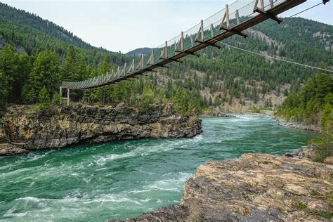 kootenai falls swinging bridge photos spring in montana national geographic travel