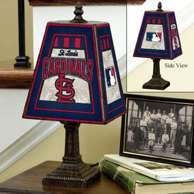 st louis cardinals bedroom decor st louis cardinals mlb art glass table l