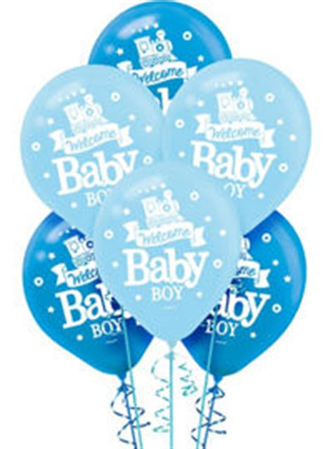 Balon Welcome Baby Boy 22278 boy baby shower balloons shower with city