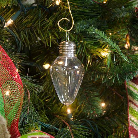clear plastic light bulb ornament 100mm 2610 64
