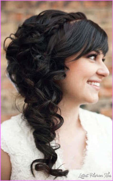 Wedding Hairstyles Pinned To The Side by Curly Hairstyles Pinned To The Side Latestfashiontips