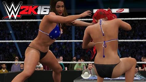 wwe very hot match nikki bella vs eva marie tlc bra panties match wwe