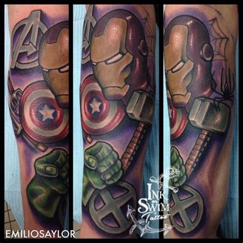 avengers tattoos 1000 ideas about on marvel