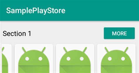 Play Store Like Recyclerview Android App Development For Phones Tablets Horizontal
