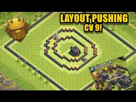 layout troll cv 9 push melhor layout troll push para cv9 clash of clans doovi