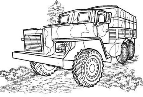 coloring pages of army trucks 40 free printable truck coloring pages download