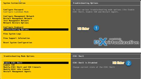 esx console three ways to enable esxi shell and timeout esx