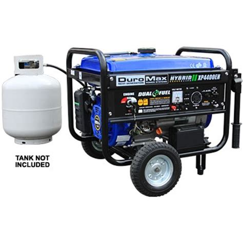 duromax bi fuel generator xp4400eh 4400 watt propane gas