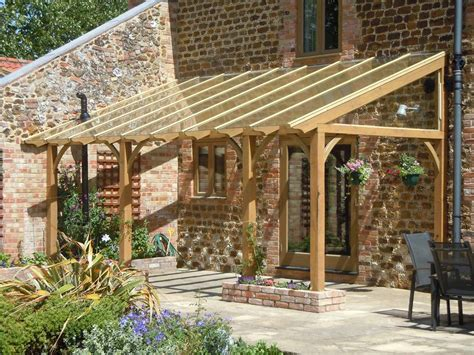 Bauen Im Garten 3296 by This Glazed Roof Pergola Blends In Perfectly With The Barn