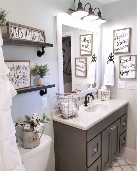 bathroom accessories decorating ideas farmhouse bathroom by blessed ranch farmhouse decor