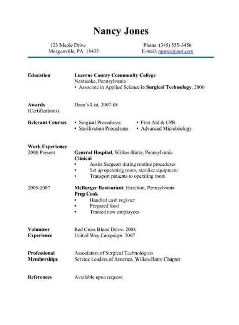 Resume Surgical 461 Best Resume Sles Images On