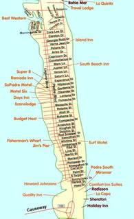 south padre island news and information maps
