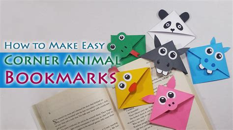 How To Make Paper Weights - how to make animal corner bookmarks craftylity