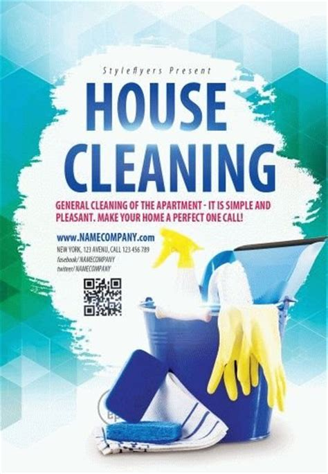 templates for cleaning flyers house cleaning psd flyer template 9579 styleflyers