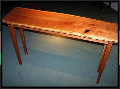 custom live edge cherry sofa table by rockledge farm