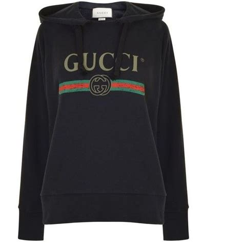 Hoddie Gucci gucci embroidered hooded sweatshirt 1 720 liked on polyvore featuring tops hoodies black