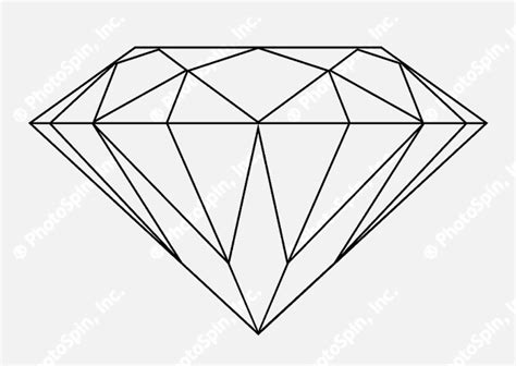 diamond tattoo stencil diamond outline google search muller brockmann ideas