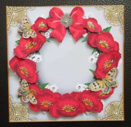 poppy davina red poppies and butterflies plain 3d ring decoupage sheet