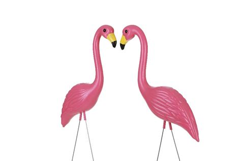 pink flamingo lawn ornaments 10 piece carton bright pink flamingo garden decor yard