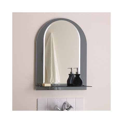 el lcaria bathroom mirror with chrome shelf lighting