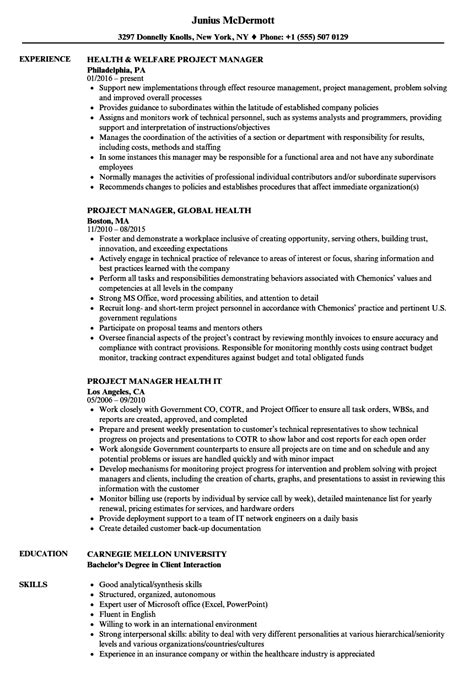 sample resume for project manager position legacylendinggroup com