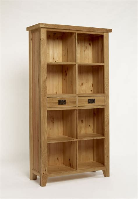 provence oak 2 drawer bookcase bookcases