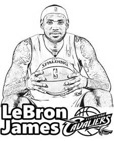 lebron james coloring picture sheet print