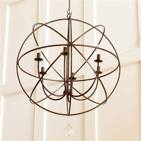 ballard designs orb chandelier copy cat chic restoration hardware foucault s iron orb