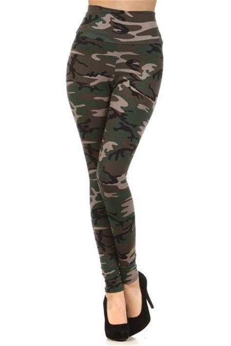 Legging Army womens camo high waist army print fashion trend