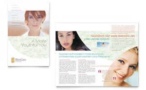 skin care clinic brochure template design