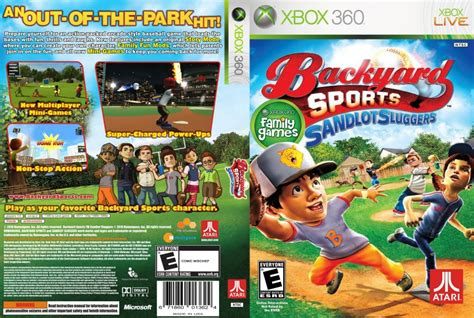 backyard sports sandlot sluggers xbox 360 backyard sports sandlot sluggers xbox 360 game covers