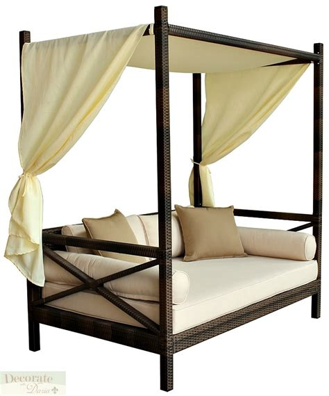 balinese bed outdoor bali style sun day bed lounger sofa w canopy patio