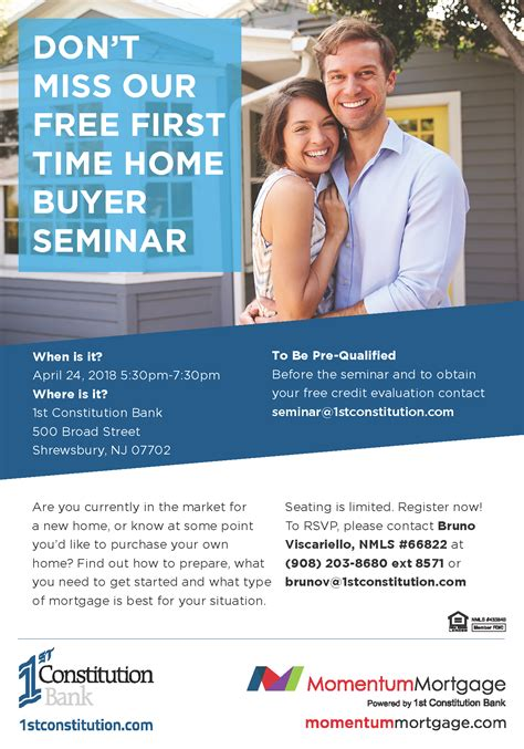 Free Time Home Buyer Workshop by Don T Miss Our Free 1st Time Home Buyers Seminar 1st