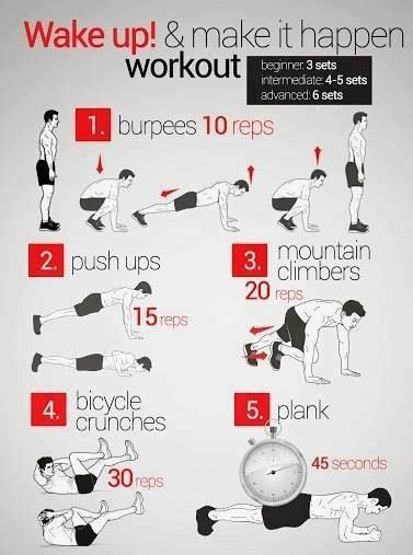easy to do at home workout fitness