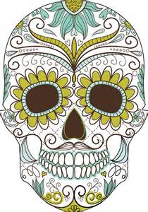 Banana Republic Home Decor day of the dead colorful skull with floral ornament f1hfwc