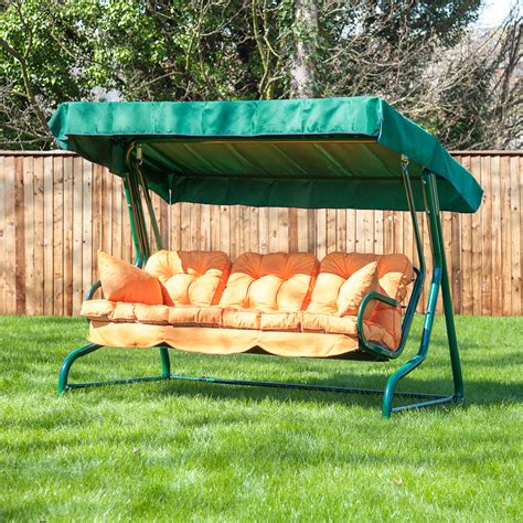 swing bench seat alfresia outdoor reclining hammock 3 seater swing bench